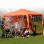 Hup Holland Hup Oranje tent voor Hubo
